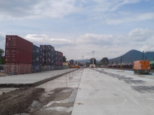 Terminál - stavební práce 16.7. 014