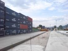 Terminál - stavební práce 16.7. 018